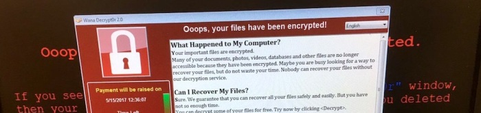 Wannacry-on-computer-image